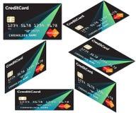 Кредитные карточки равновеликие Визитная карточка для оплат иллюстрация штока
