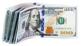 100 кредиток доллара США Стоковое фото RF