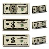 5 10 20 кредиток доллара Стоковое Фото