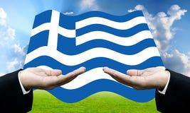 Кредиторы просят оплата dept, финансовый кризис в Греции стоковое изображение