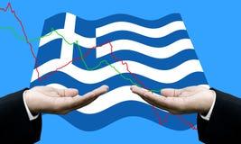 Кредиторы просят оплата dept, финансовый кризис в Греции стоковая фотография