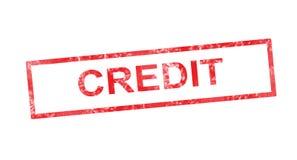 Кредит в красном прямоугольном штемпеле бесплатная иллюстрация