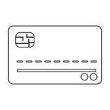 кредит или значок кредитной карточки иллюстрация штока