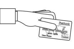 кредит или линия дизайн значка кредитной карточки иллюстрация вектора