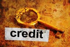Кредит и ключевое понятие Стоковое Изображение