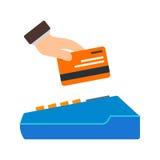 кредит карточки используя иллюстрация вектора