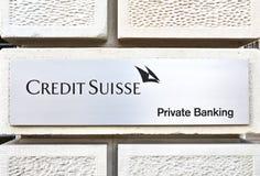 Кредит Suisse Стоковые Фотографии RF
