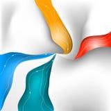 Кривая выравнивает предпосылку Стоковые Фотографии RF