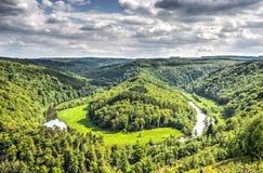 Кривая в реке Semois Стоковое Изображение