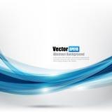 Кривая Ligth абстрактной предпосылки голубые и элемент волны vector беда Стоковые Фото