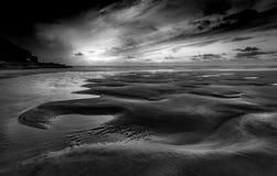 Кривые в песке, пески Perran, Корнуолл стоковое изображение