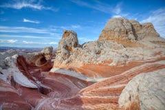 Кривые и текстуры в высокой пустыне, белом карманн стоковые фото