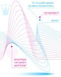 кривые мотива 3d элегантные пропуская, светлая динамическая предпосылка, majes Стоковая Фотография RF