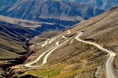 Кривые на горе Стоковые Фотографии RF