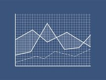 Кривые на Checkered поле с системой координат бесплатная иллюстрация