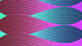 Кривые пинка, зеленых и голубых волнистые текстурируют абстрактную предпосылку иллюстрация вектора