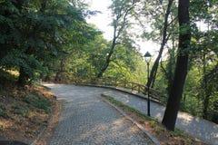Кривые пути на холме petÅ™Ãn, Праге, чехии стоковое фото