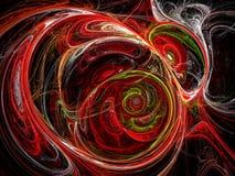 Кривые хаоса - изображение конспекта цифров произведенное иллюстрация штока