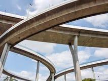 Кривый висячего моста Стоковое Изображение RF