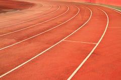 Кривый следа гонки Стоковые Изображения RF
