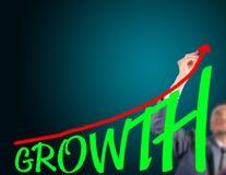 Кривый чертежа бизнесмена роста Стоковые Фотографии RF