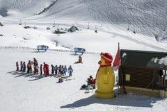 Кризисный курс лыжи Стоковые Изображения RF