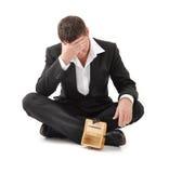 кризис бизнесмена Стоковое Изображение