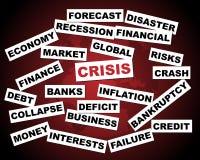 кризис гловальный Стоковое Изображение