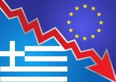 кризис Греция Стоковое Изображение