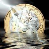 Кризис евро Стоковое Изображение