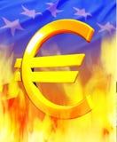 Кризис евро Стоковые Изображения