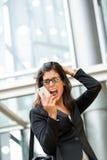 Кризис и стресс дела женщины Стоковое Фото