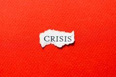Кризис на куске бумаги Стоковая Фотография