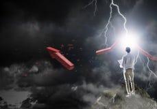 кризис принципиальной схемы финансовохозяйственный Мультимедиа Стоковое Изображение