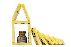 кризис принципиальной схемы финансовохозяйственный Стоковые Фото