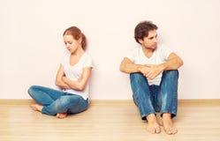 Кризис семьи, конфликт, несогласие, разладка Стоковые Фото