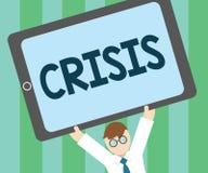 Кризис текста сочинительства слова Концепция дела на время когда трудное или важное решение необходимо сделать опасностью иллюстрация штока