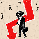 Кризис финансовый на фондовой бирже Стоковые Изображения