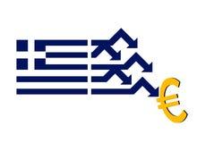 кризис хозяйственная Греция иллюстрация штока