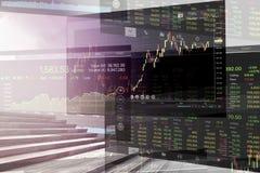 Кризис экономических проблем и дела с предпосылкой диаграммы Стоковые Изображения
