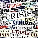 кризис headlines плитка Стоковая Фотография