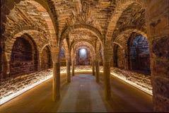 Крипта в церков замка Cardona в Испании стоковое фото rf