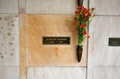 Крипта Мерилин Монро в Лос-Анджелесе стоковые изображения