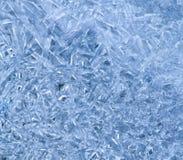 кристаллическая картина льда Стоковое Изображение