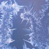 кристаллическая, котор замерли стеклянная текстура льда Стоковое фото RF