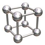 кристаллическая решетка металлическая Стоковая Фотография