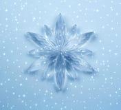кристаллическая снежинка Стоковые Фотографии RF
