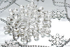 кристаллическая снежинка Стоковая Фотография