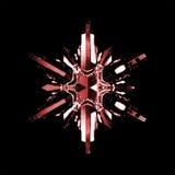 кристаллическая снежинка Стоковые Изображения RF