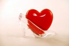 кристаллическая тапочка сердца Стоковая Фотография RF